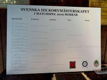Svenska Hickorymästerskapen Match - Dag 1